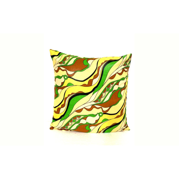 18x18 Green Yellow Envelope Pillow Cover