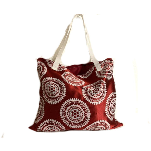 Red White Festive Shopping Bag