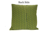 18x18 Blue Green Geometric Envelope Pillow Cover.