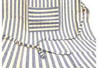 Blue White Full Kitchen Apron with Pocket - SonalCreativeSoul
