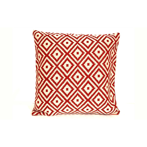 18x18 Red Holiday Christmas Decorative Pillow Cover - SonalCreativeSoul