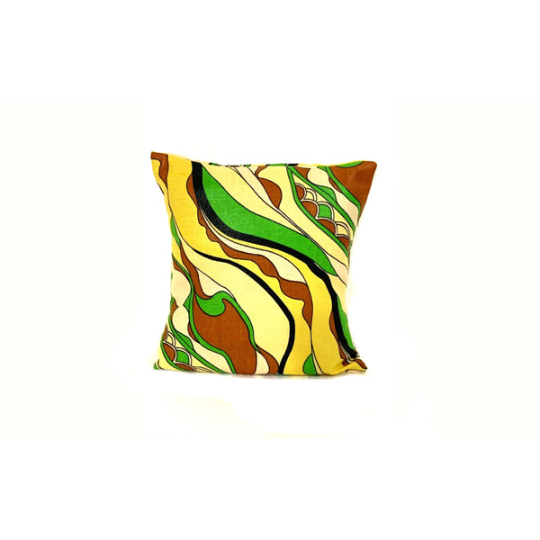 10x10 Yellow Green Envelope Pillow Cover Handmade In Canada.