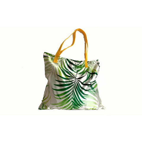 Beach White Green Yellow Shopping Bag
