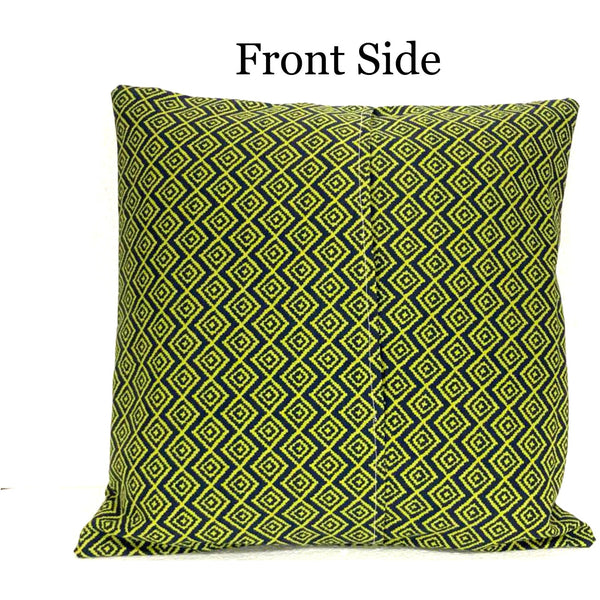 18x18 Blue Green Geometric Envelope Pillow Cover