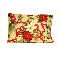 20x30 Christmas Holiday Floral Pillowcase.