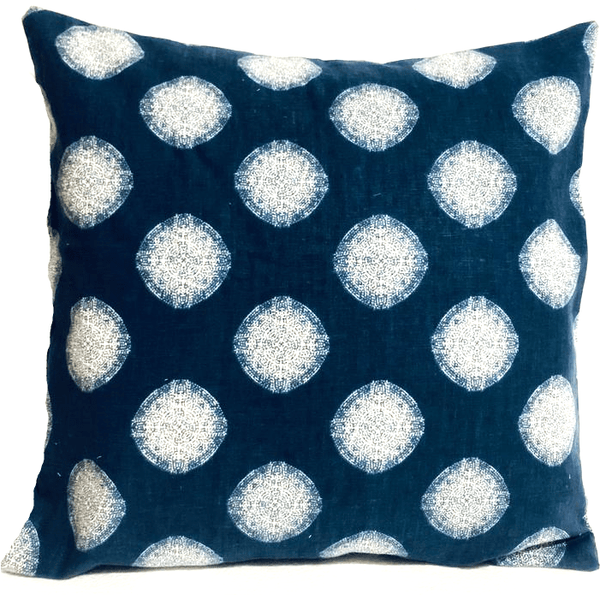 Blue White Designer Outdoor Envelope Pillow Cover.