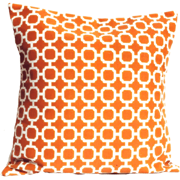 Orange White Geometric Envelope Pillow Cover.