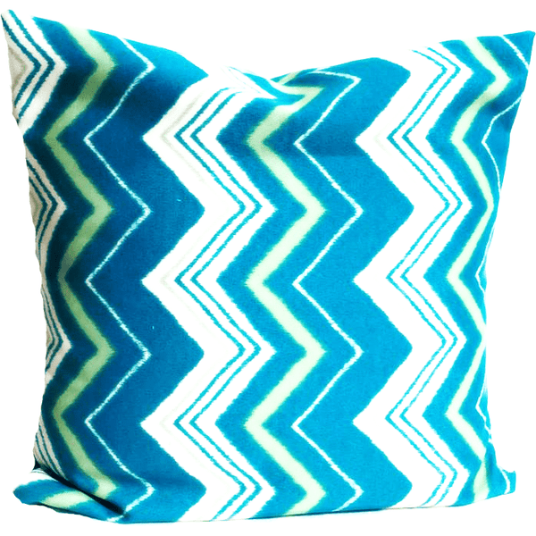 Turquoise Green Zig Zag Pattern Envelope Pillow Cover.