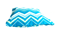 Turquoise Green Zig Zag Pattern Envelope Pillow Cover - SonalCreativeSoul
