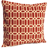Red Beige Outdoor Geometric Envelope Pillow Cover.