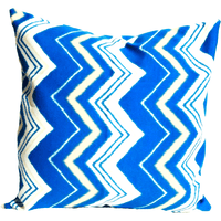Blue Yellow Zig Zag Pattern Envelope Pillow Cover.