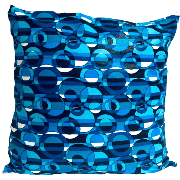 18x18 Dark Blue White Geometric Circles Envelope Pillow Covers - SonalCreativeSoul