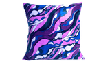 18x18 Purple Pink Blue Abstract Design Envelope Pillow Cover.