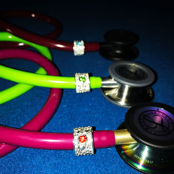 Stethoscope Birthstone Charms