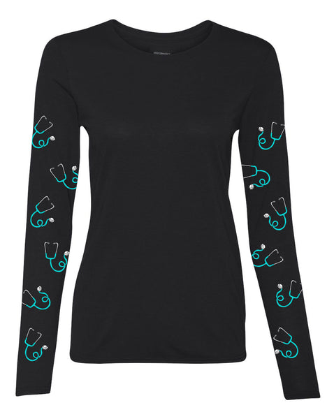 Long Sleeve Performance Shirt (stethoscope edition)