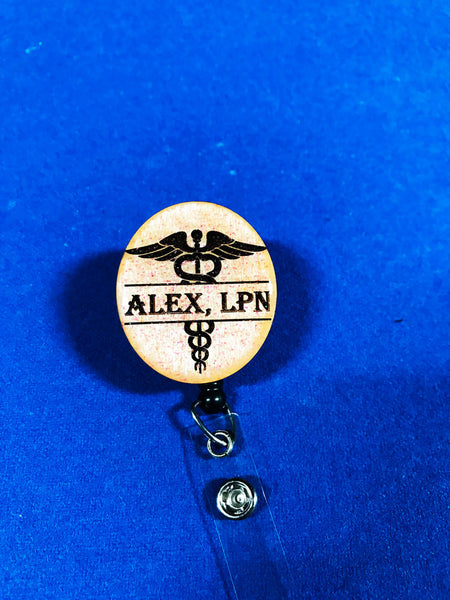 Caduceus Badge Reel