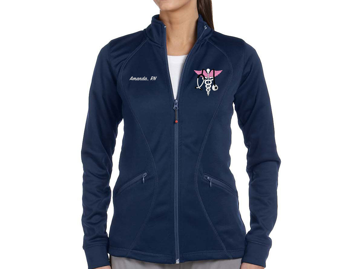 Custom Embroidered Moisture-Wicking Full Zip Jacket