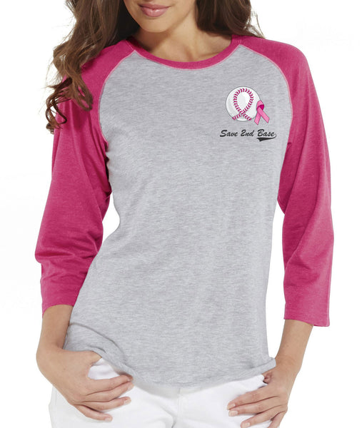 Breast Cancer Awareness Baseball Tee