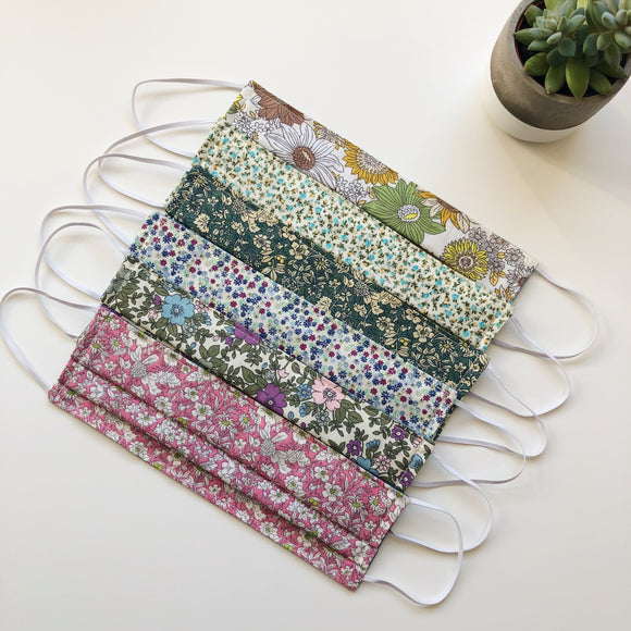 Face mask, face covering - florals