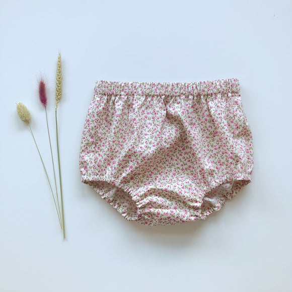 Pink ditsy floral handmade bloomers