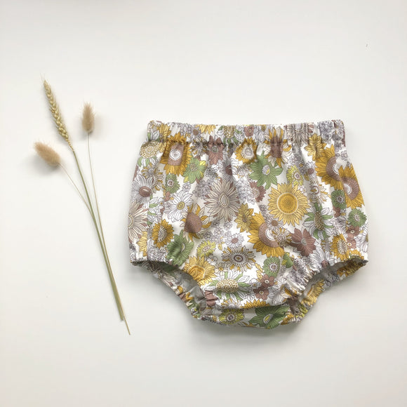 Sunflower print handmade bloomers