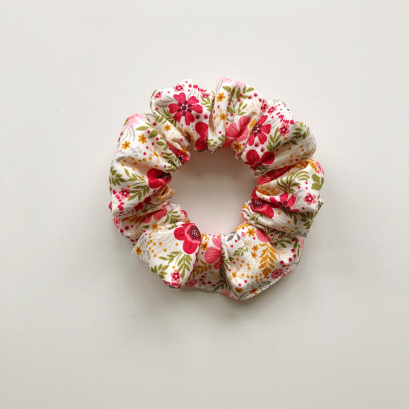 Summer burst floral hair scrunchie