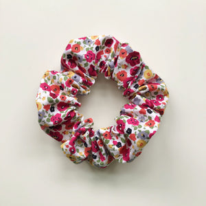Red wildflower hair scrunchie
