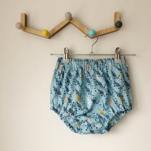 Blue abstract print bloomers, 18-24 months