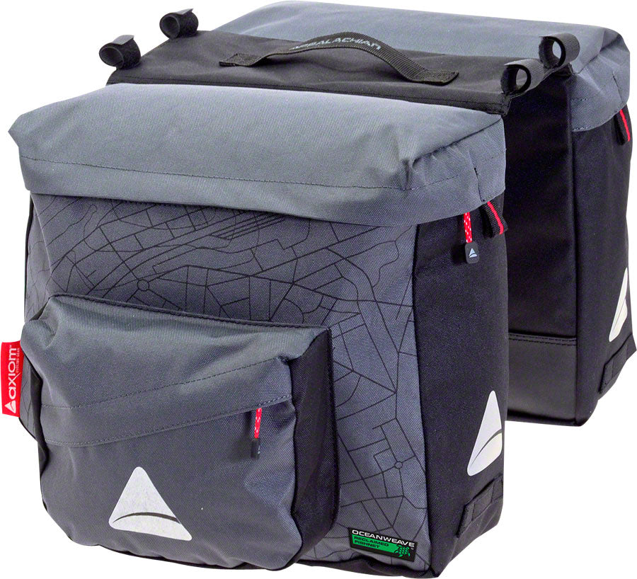 Axiom Seymour Oceanweave P25 Panniers, Gray/Black