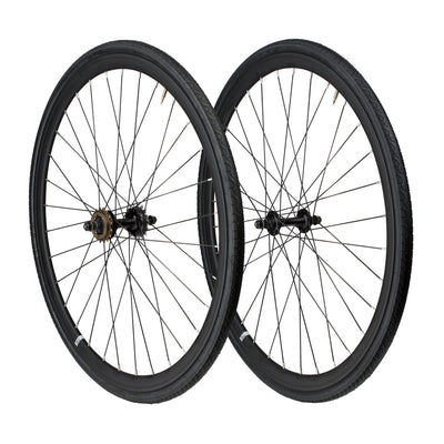 6KU Fixie Front+Rear Wheelset, Black