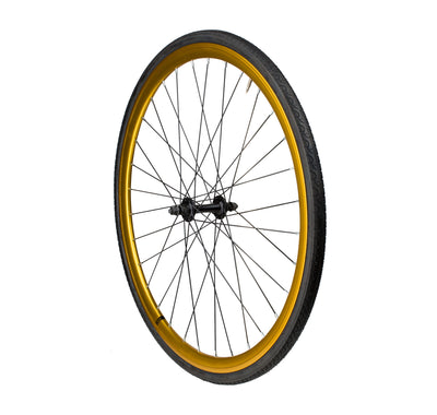 6KU Fixie Front Wheel, Gold