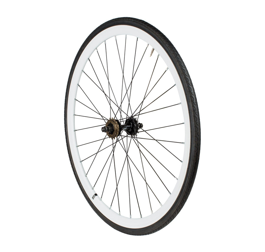 6KU Fixie Rear Wheelset, White