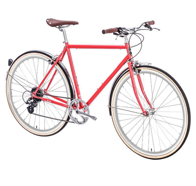 6KU Euclid Mens 8 Speed Hybrid Bike