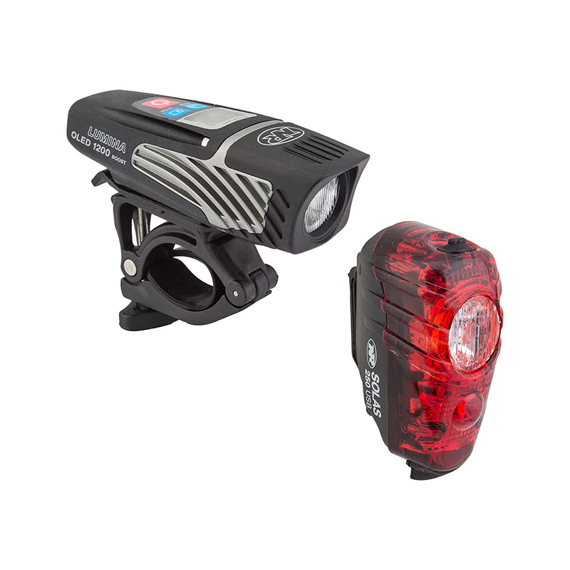 Niterider Lumina OLED 1200 Boost Headlight and Solas 250 Taillight Combo