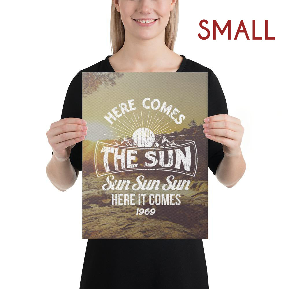 The Beatles - Here Comes The Sun - Small Canvas 2