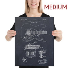 Load image into Gallery viewer, Guitar Patent Canvas