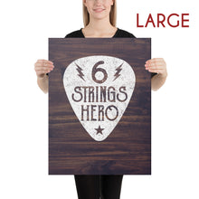 Load image into Gallery viewer, 6 Strings Hero - Guitar Canvas