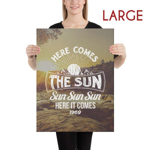 The Beatles - Here Comes The Sun - Large Canvas 2