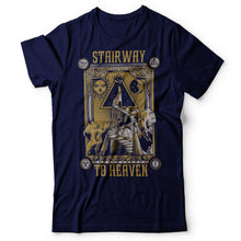 Load image into Gallery viewer, Led Zeppelin - Stairway To Heaven - Men's T-Shirt Navy Blue