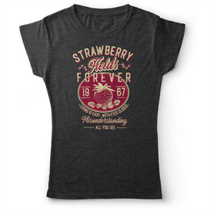 The Beatles - Strawberry Fields Forever - Women's T-Shirt Dark Gray 2