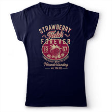 Load image into Gallery viewer, The Beatles - Strawberry Fields Forever - Women's T-Shirt Navy Blue 2