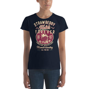 The Beatles - Strawberry Fields Forever - Women's T-Shirt Navy Blue