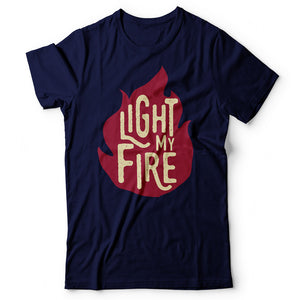 The Doors - Light My Fire - Men's T-Shirt Navy Blue