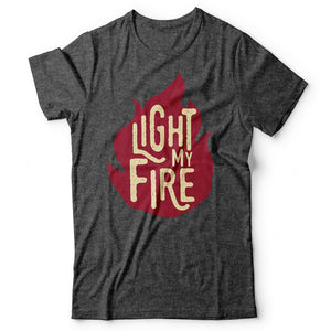 The Doors - Light My Fire - Men's T-Shirt Gray