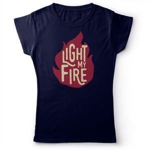 The Doors - Light My Fire - Women's T-Shirt Navy Blue 2