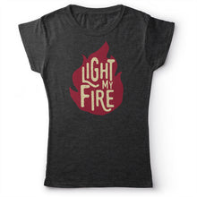 Load image into Gallery viewer, The Doors - Light My Fire - Women's T-Shirt Dark Gray 2