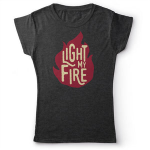 The Doors - Light My Fire - Women's T-Shirt Dark Gray 2