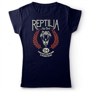 The Strokes - Reptilia - Women's T-Shirt Navy Blue 2