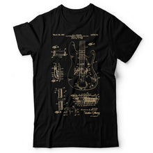 Load image into Gallery viewer, Bass Guitar Patent - Men's T-Shirt Black