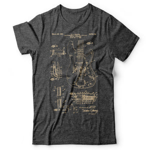 Bass Guitar Patent - Men's T-Shirt Gray